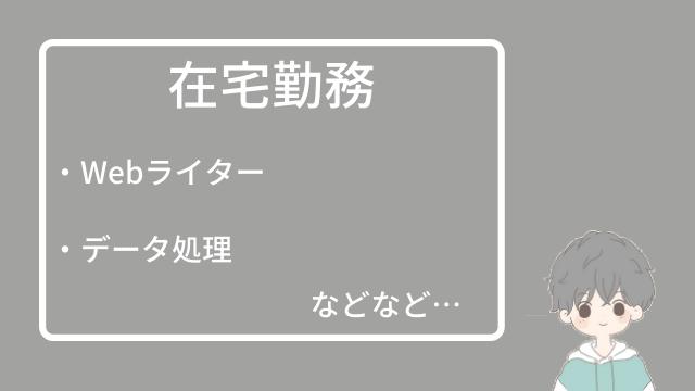 在宅勤務(Webライター・データ処理)