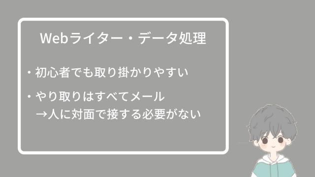 Webライター・データ処理
