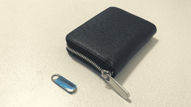 ミニ財布の予備ファスナー